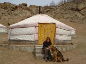 Jan Ellis and yurt